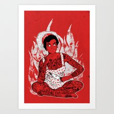 Housewife From Hell Art Print