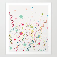 Wishes As Confetti / New… Art Print