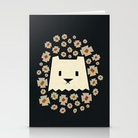 Floral Yeti Stationery Cards