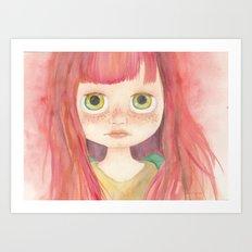 Blythe Doll Watercolor Art Print