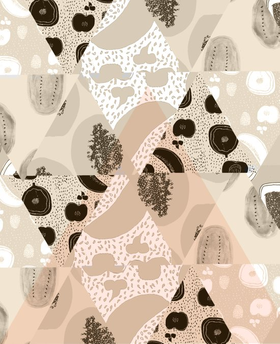 Fruit Geometry Art Print
