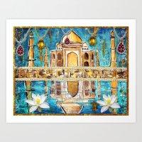 Reflections of the Taj Mahal Art Print