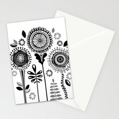 Folksy Flowerheads Stationery Cards