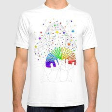 Rainbow Spring - Colors Decompressed SMALL Mens Fitted Tee White