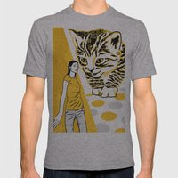 Cat and Mouse Mens Fitted Tee Athletic Grey SMALL