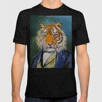 Gentleman Tiger Mens Fitted Tee Tri-Black SMALL