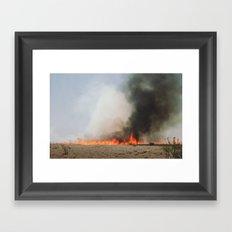 Grass Fire Framed Art Print