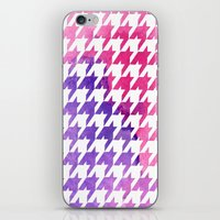 Houndstooth Pink Waterco… iPhone & iPod Skin