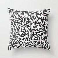 Love labyrinth Throw Pillow
