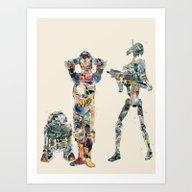 Art Print featuring Modern Wars 4 by Bri.buckley