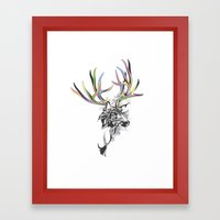 White-Tailed Deer Framed Art Print