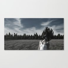 In a field Canvas Print