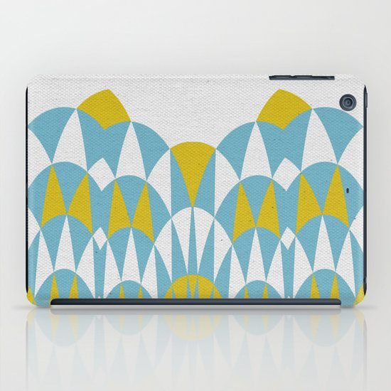 Modern Day Arches Blue and Yellow iPad Case
