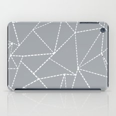 Abstract Dotted Lines Grey iPad Case