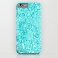 millions aqua iPhone 6 Slim Case
