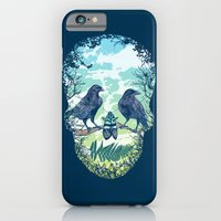 iPhone Cases featuring Nature's Skull by Rachel Caldwell