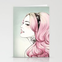 Pink Dye Stationery Cards
