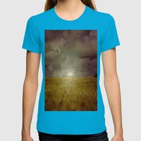 When We Walked In Fields… Womens Fitted Tee Teal SMALL