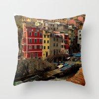 Riomaggiore, Cinque Terr… Throw Pillow