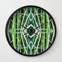 50 Shades Of Green (6) Wall Clock