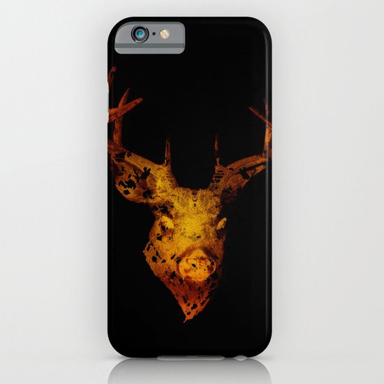 Cervus (Gold Negative Version) iPhone & iPod Case