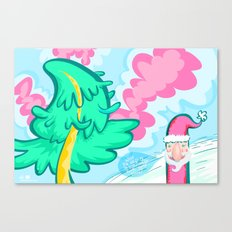Santa + Tree Canvas Print