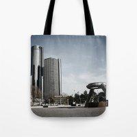 Detroit's Hart Plaza Tote Bag