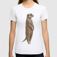 Its a Meerkat Womens Fitted Tee Ash Grey SMALL