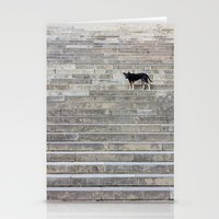 Doge on stairs Stationery Cards
