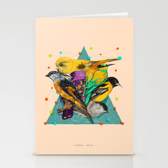 Colour Party Stationery Card
