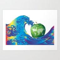 Hokusai Rainbow & An App… Art Print