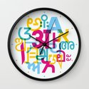 A in Scripts Around the World Wall Clock