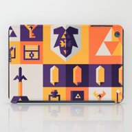 iPad Case featuring Legend Of Zelda Items by Ann Van Haeken