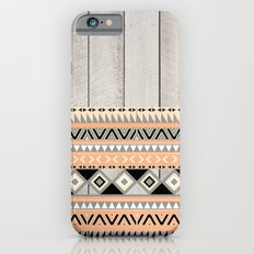 Peach Coral Andes Abstract Aztec Tribal Gray Wood Slim Case iPhone 6s