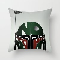 Throw Pillow featuring He's No Good To Me Dead! by maclac