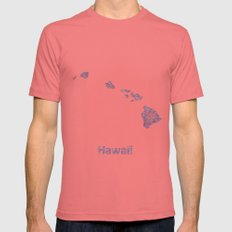 Hawaii Mens Fitted Tee Pomegranate SMALL