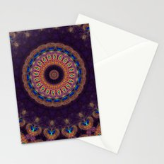 Jewelled Peacock Stationery Cards