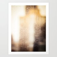 Buildings With a Touch of Gold 2 Art Print