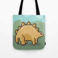 Pixel Dino! Tote Bag
