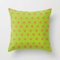 Xmas Candy Throw Pillow