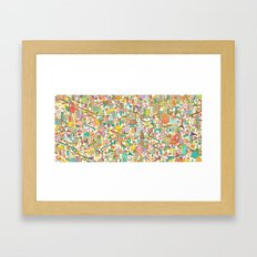 CREEPING ABOUT Framed Art Print