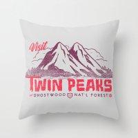 Visit Twin Peaks Throw Pillow