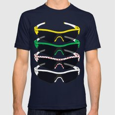 Tour de France Glasses Mens Fitted Tee Navy SMALL