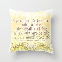 I Love Thee, I Love Thee… Throw Pillow