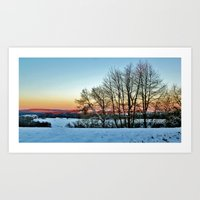 Colorful Winter Art Print