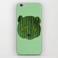 Panda & bamboo iPhone & iPod Skin