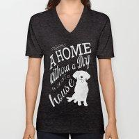 Home with Dog Unisex V-Neck