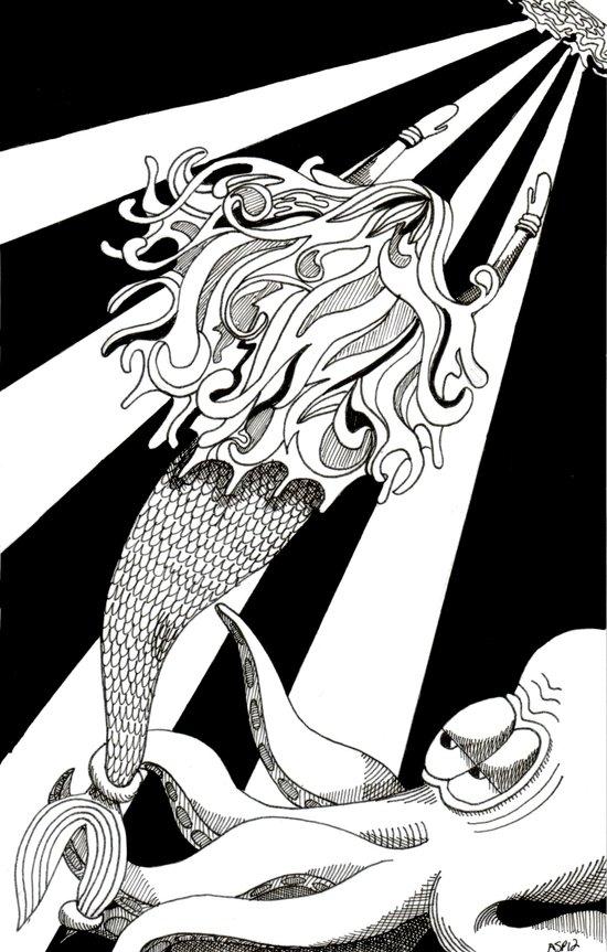 Sea Struggle Art Print