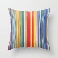 STRIPES 9 Throw Pillow