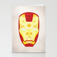 Day Of The Dead Iron Man Stationery Cards